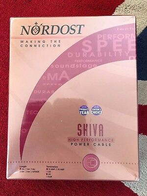 Nordost Shiva Mains Power Cord 2m Lead-with Original Packaging