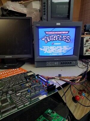TMNT PCB Teenage Mutant Ninja Turtles Arcade 4 player PCB Jamma 100% Working