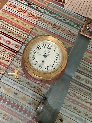 Antique Seth Thomas Ships Clock w/Key - Workin!! (7.25 in) Large!