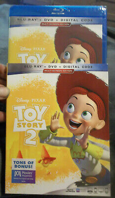 TOY STORY 2 Blu-Ray + DVD + Digial Code NEW Sealed W/ Slipcover