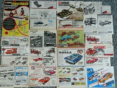 Corgi Toys Lot 25 Publicites James Bons Circus Man From Uccle London Bus Police