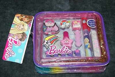 Barbie Glitz'N'Glam Makeup Tote With 9 Items! Free UK Postage! 98043