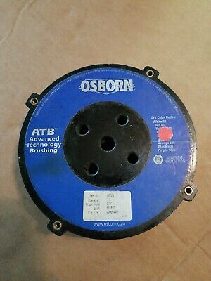 "Osborn 40226 7"" Diam 80 Grit Silicon Carbide Disc Brush Medium Grade Plain Hole"