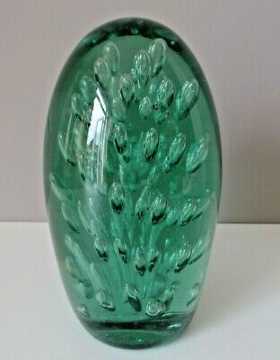 Extra Large Antique English Victorian Green Glass Dump Doorstop Paperweight