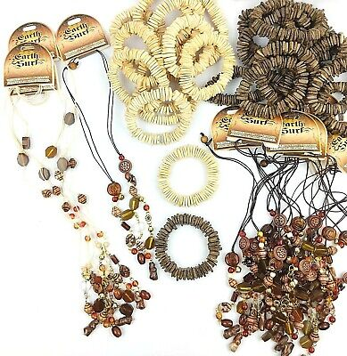 36 SURF NECKLACE BRACELET Jewellery Natural Hippie Boho Wholesale Job Lot ES329
