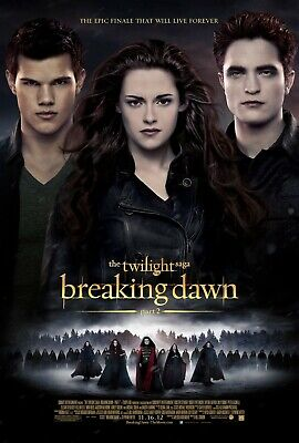 Twilight Breaking Dawn 27x40 Original Theater Double Sided Movie Poster Part 2