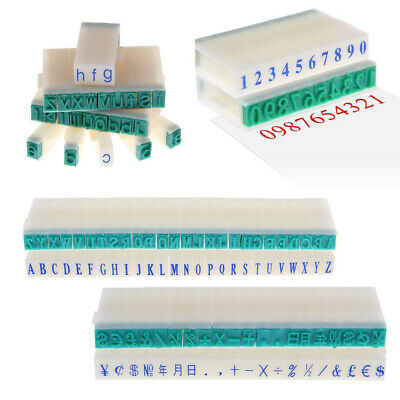 3-Types English Alphabet Letter Number Stamp Free Combination DIY Craft Rubber