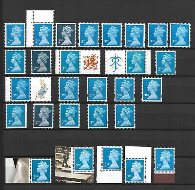 Specialised Collection 2nd Class NVI Machins, 28 Stamps, Fine MNH, some labels