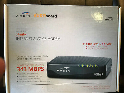 ARRIS 8X4 DOCSIS 3 0 Cable Modem Wifi Router N300 for