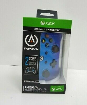NEW PowerA Enhanced Wired Controller for Xbox One - Blue