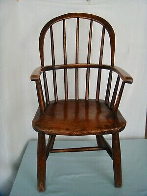 SUPERB ANTIQUE CHILDS WINDSOR CHAIR c1800/1860