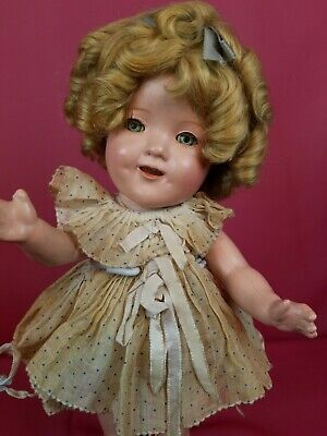 "Vintage Ideal 1930's Shirley Temple All Composition Doll 11"" ALL ORIGINAL Beauty"