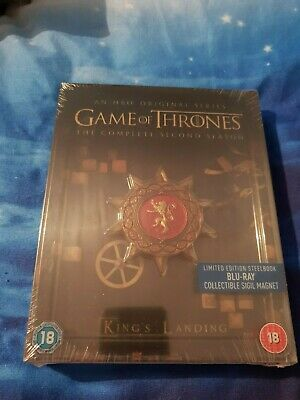 Game Of Thrones Second Season 2 Blu-Ray Steelbook Limited Edition Magnet Sigil