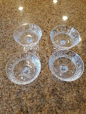 """*VINTAGE* Waterford Crystal LISMORE (1957-) Champagne Coupe Tall Sherbet 4 1/8"""""""