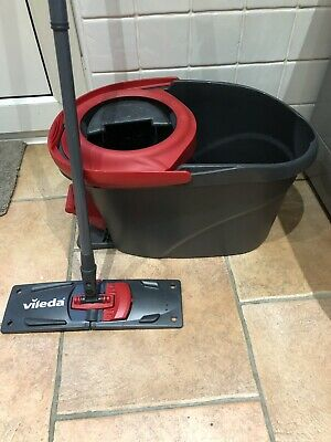 Vileda Ultramat Turbo Flat Mop And Bucket Set With Mop Pad