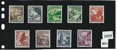Full MH stamp set / 1938 Winter Relief / Third Reich- Austria / Complete MH set