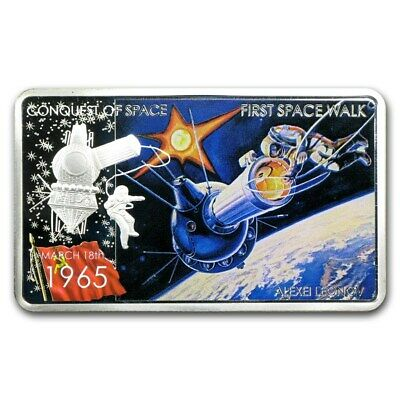 2011 Niue 2$ First Space Walk  .999 Proof 1 oz Silver Coin!!