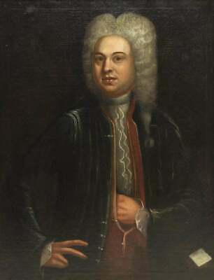 Old Master  LARGE 17th, 18th Century Antique Portrait of a Nobleman, c 1680