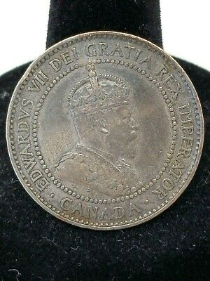 Antique Coin Canada 1908 King Edward VII Penny One Cent