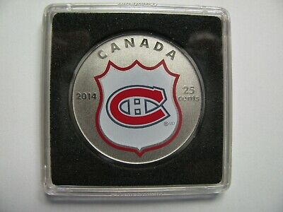 2014 Specimen 25 cents NHL Montreal Canadiens COIN ONLY Canada twenty-five quart