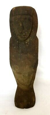 Very Large Ancient Egyptian Rare Ptolemaic Wooden Painted Ushabti Colored Royal