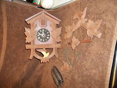 Vintage Black Forest Cuckoo Clock Made In Germany As Is