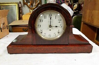 Beautiful Antique Seth Thomas Rosewood Adamantine Mantel Clock