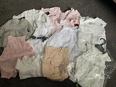Baby Girls Clothing Bundle Size Newborn & Upto 1 Month Mothercare, Mini Club Etc