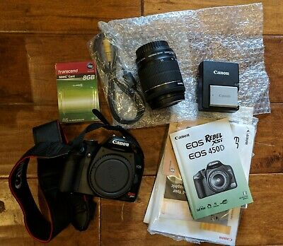 Canon Rebel XSi DSLR Camera with EF-S 18-55mm with Box