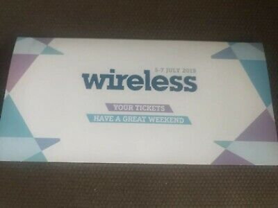 2 X WIRELESS FESTIVAL 2019 3 DAY WEEKEND TICKETS Friday Saturday Sunday PAIR