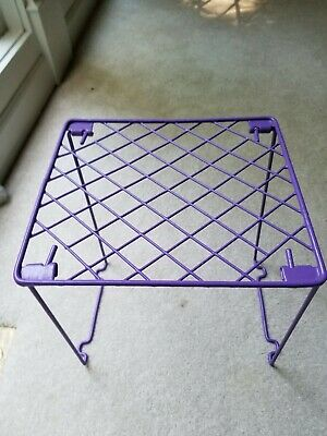 Purple Metal Stackable School Locker Shelf 11 1/4 X 10 1/4