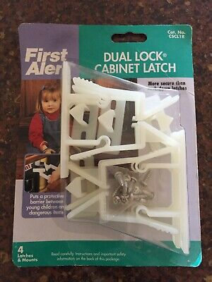 New In Package First Alert Dual Lock Cabinet Latch 4 Latches and Mounts CSCL1R