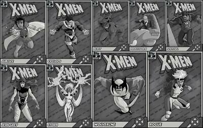 Topps Marvel Collect Retro X-Men 3rd Printing [9 CARD SET] Wolverine/Rogue+++