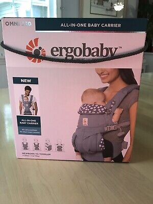 Ergo Baby Omni 360 All In One Baby Carrier 7-33 lbs Blue Daisies