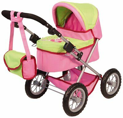 PINK AND BLACK Zoom Dolls Pram With Doll - £20 00 | PicClick UK