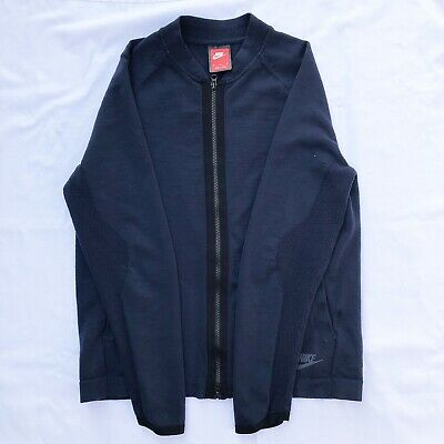 8cdd26204 NIKE SPORTSWEAR TECH Bomber Jacket 854753-451 Navy Blue Women's Size ...