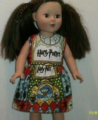 """18"""" doll clothes-fits American Girl Generation My Life-Dress-Harry Potter Print"""