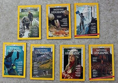 National Geographic 1969 January; July; August; September; November