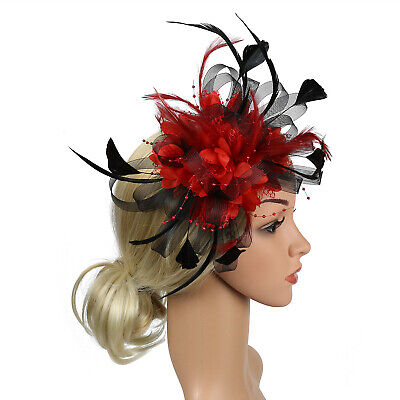 Fascinator Hat Lady's Day Hair Clip Ascot Races Headware Wedding Party Accessory