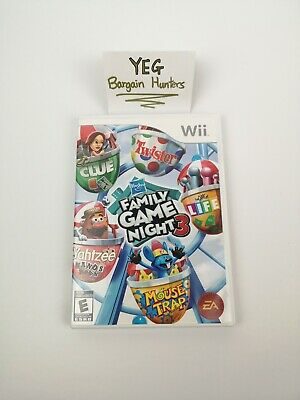 Hasbro Family Game Night 3 (Nintendo Wii, 2010) Complete Tested Canadian Seller
