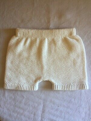 Seed White Knit Shorts / Bloomers - Size 00 / 3-6 months (#D1545)