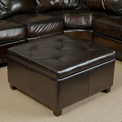 Collections Of Richmond Bonded Leather Storage Ottoman