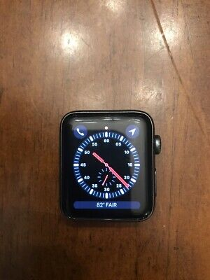 Apple Watch Series 3 LTE Cellular GPS 42mm Space Gray Aluminum