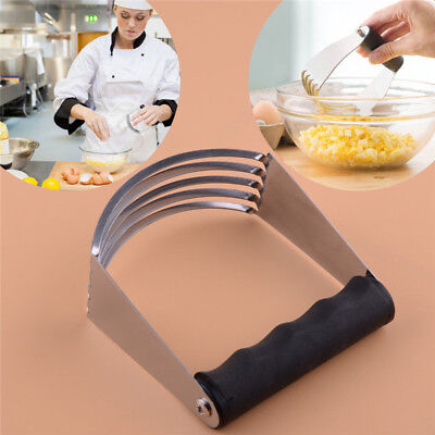 Stainless Steel Butter Pastry Blender Dough Cutter With Blades Mixer Whisk Tool