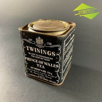 Vintage Twinings Prince Of Wales Tea 4Oz London Tea Canister Tin Advertising