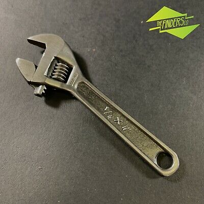 "Vintage Bodmann Germany 4"" X 1/4"" Shifter Adjustable Wrench Mechanics Spanner"
