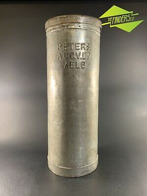 RARE VINTAGE c.1950's PETERS ICE CREAM LARGE VAT CANISTER MILK BAR SIGN CAN