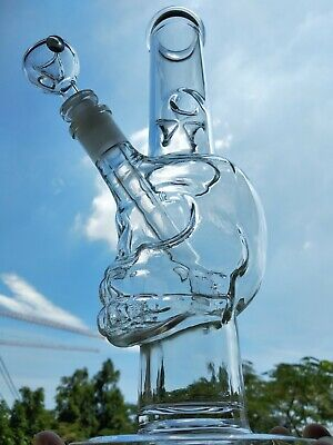 Sell well Clear glass water bong skull Water Pipes with glass bongs hookahs