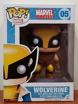 Funko Pop! 2011 Brown Suit Marvel Wolverine 05 NON-MINT [w/protector]