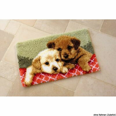 Vervaco Latch hook rug kit Labrador puppies, DIY